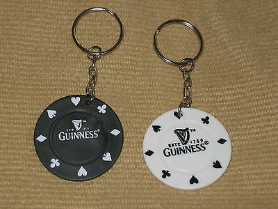 2 GUINNESS POKER CHIP KEY RINGS