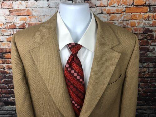 Saville Row Luxury Fabric Brown Sports Coat Metal