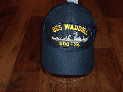USS WADDELL DDG-24 NAVY SHIP HAT U.S MILITARY OFFICIAL BALL CAP U.S.A  MADE