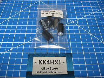 22uf Axial Capacitors - 450V 22uF Axial Electrolytic Capacitors - SC Brand/GHA Series -  5 Pieces