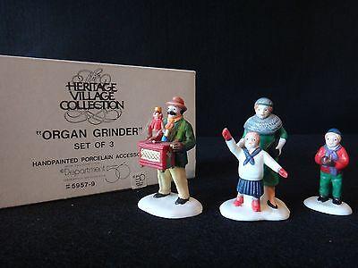 """Dept 56 Heritage Village """"Organ Grinder"""" retired 1991"""
