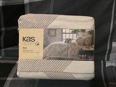KAS Raina King Duvet Cover in Linen