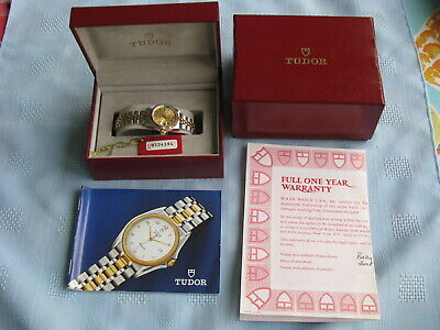Rolex Tudor Princess Oysterdate Automatic Steel & Gold Wrist Watch, Box & Papers