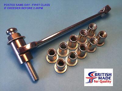 M8 - Heavy Duty High Tensile (10.9)  Rivnut Insert Setting Tool Nutsert Kit