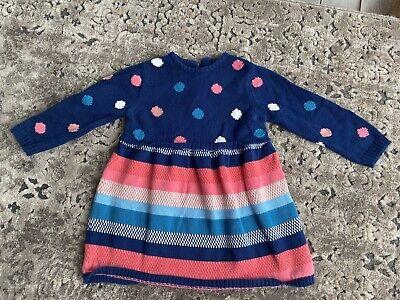 John Lewis Baby Girl Sweater Dress 6 - 9 Months