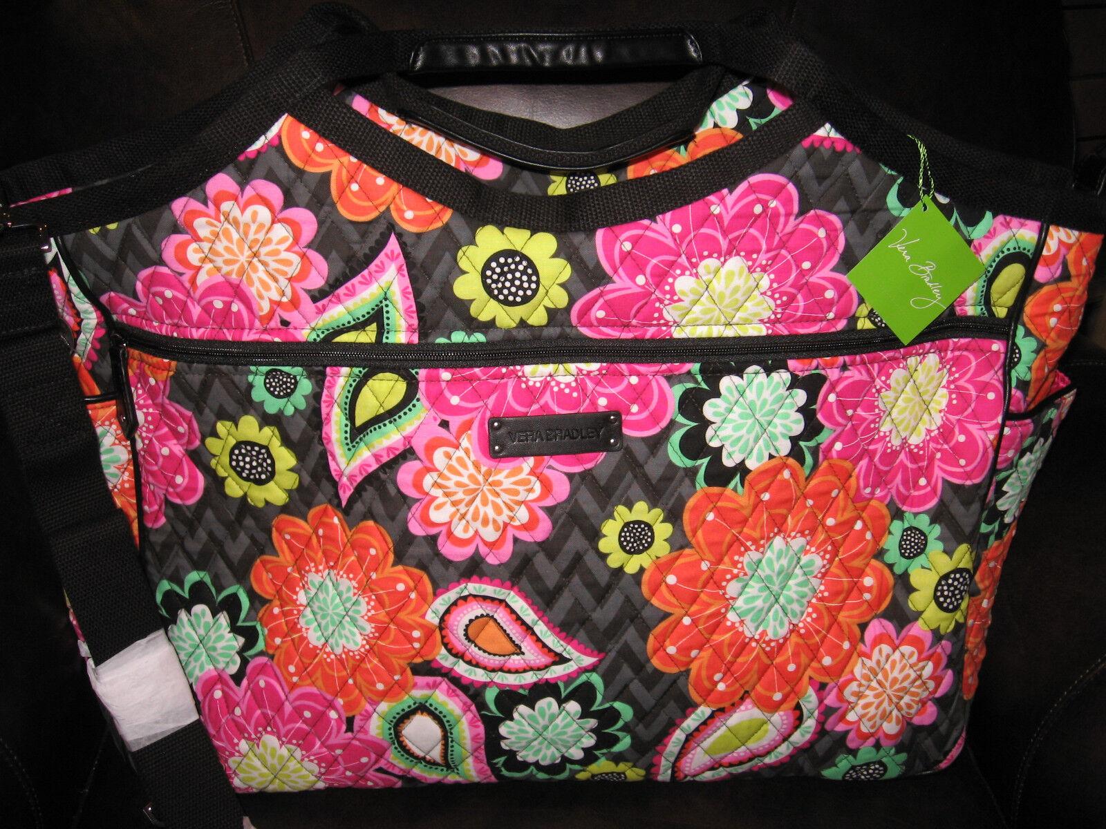 Vera Bradley ZIGGY ZINNIA Carryall Travel Bag Tote Carryon T