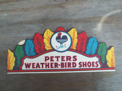 New Old Stock Paper Kids Headband Advertising Peters Weather Bird Shoes FREE SHI