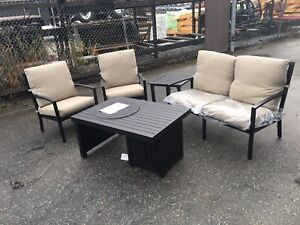 Patio Set (Chairs/Table/Fire Pit)