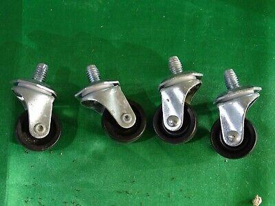 4 Swivel Casters 2 Steel Plate Casters Wheels P7