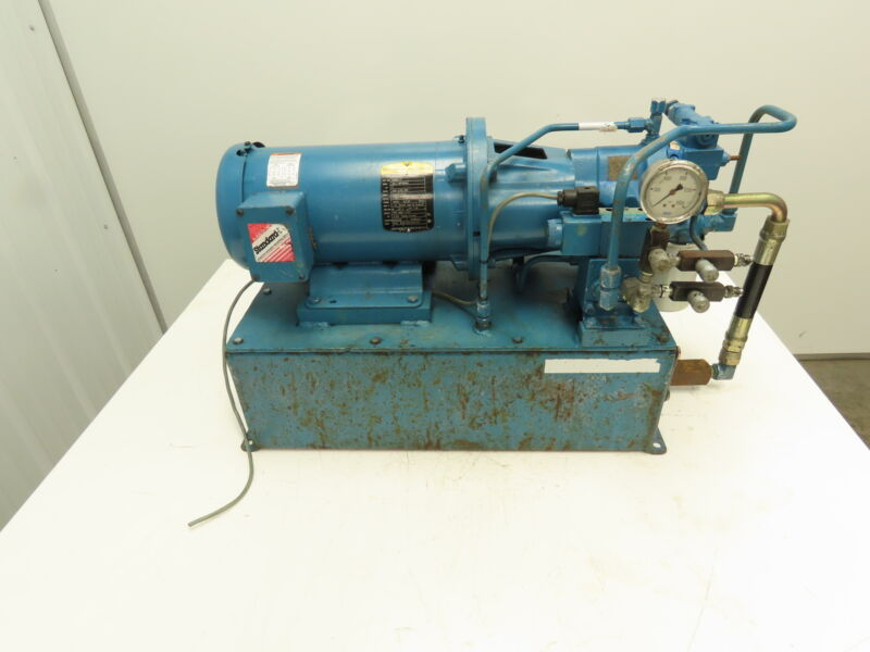 Motion Industries 9 Gal. Hydraulic Power Unit w/Vickers Pump 1100psi 5gpm 3hp