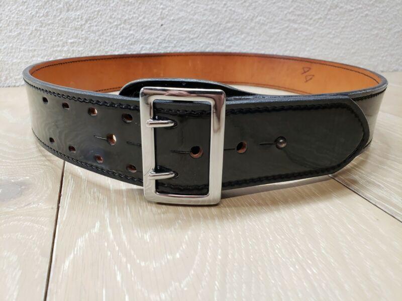 Dutyman 1031 Full Grain Leather Belt 44 Leather Belt Police Style Black Gloss #4