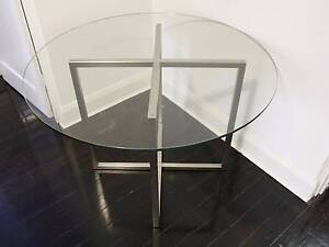 Glass Dining Table - Round 110cm diameter Centennial Park Eastern Suburbs Preview