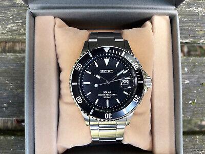 Seiko Solar Men's Vintage Design Black Wrist Watch (SZEV011)