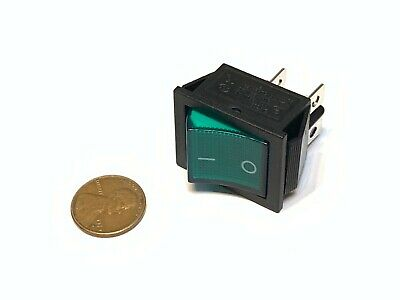 1 Piece Green 4 Pin Kcd4 Bxr 20a Rocker Switch On Off Latching 12v 125v Ac Dc B5