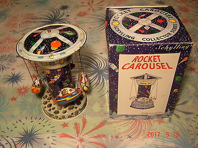 VINTAGE TIN SCHYLLING ROCKET CAROUSEL COLLECTOR SERIES