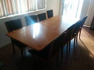 dining table and 8 chairs Toongabbie Parramatta Area Preview