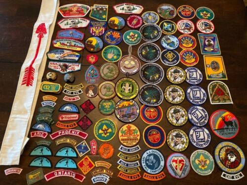 VINTAGE BSA BOY SCOUTS OF AMERICA ARIZONA HUGE PATCH & ACCESSORY LOT USED AS IS