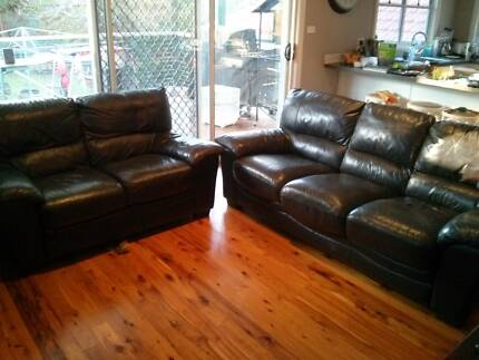 2 + 3 Leather lounge suite Normanhurst Hornsby Area Preview