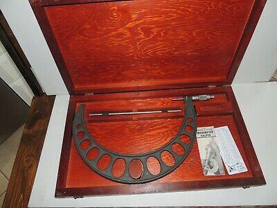 Xl Vintage Browne And Sharpe Micro Meter Caliper W Original Box