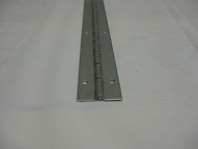 "Stainless Steel Piano Door Hinge 1 1/2"" Open x 20"" Long 16 ga. Punched holes"