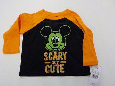 BOYS SIZE 12 MONTHS DISNEY MICKEY MOUSE SCARY BUT CUTE HALLOWEEN SHIRT NEW #3758