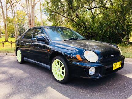 2001 SUBARU IMPREZA RS 2.5L SEDAN AWD 5SPEED MANUAL BLACK