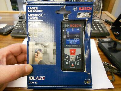 Bosch Glm 42 Blaze Laser Measure 135ft 40m Ae