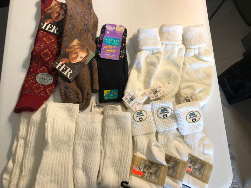 Vintage Sock Lot 13 Pair NOS Deadstock Slouch 70s 80s Ankle Womens
