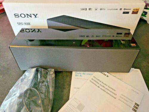 Open Box Sony SRS-X88 Portable Wireless Bluetooth Wi-Fi Speaker