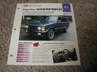 ★★1998 RANGE ROVER OVERFINCH 570 SPEC SHEET BROCHURE INFO PAMPHLET YELLOW★★