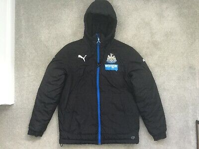 Official Newcastle United Puma Padded Football Coat Jacket Anorak Small Wonga