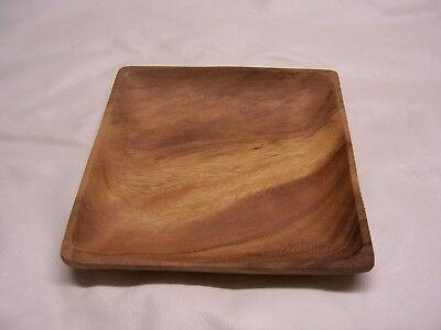 20cm Holzteller Holzschüssel Holzschale Snackschale Akazienholz Mittelalter Neu