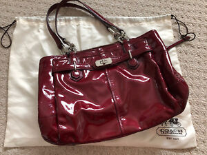 Red Patent Leather Coach Purse