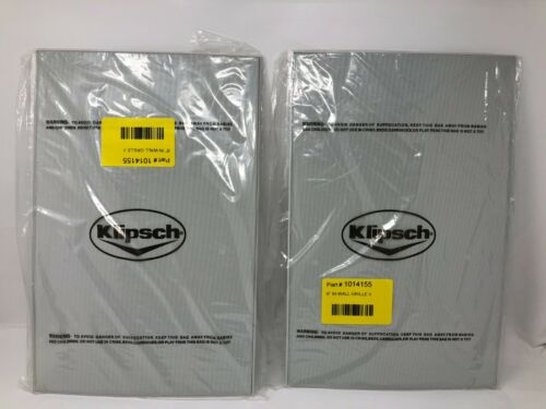 NEW! 2 Klipsch Speaker Grill Covers White for In-wall Speakers Grilles 1014155