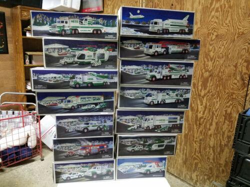 Hess Trucks Lot of 14 unused in boxes