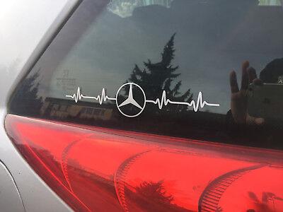 Aufklebersatz Herzschlag - Puls 2 Stk .( Mercedes)