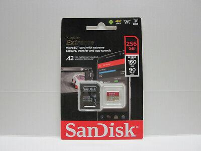 Sandisk 256GB Micro Extreme U3 V30 4K SD card fo GoPro Hero 7 black silver white (Gopro Hero 3 Silver Speicherkarte)