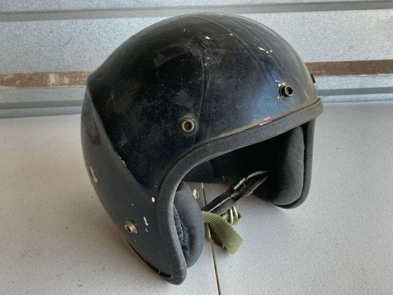 Vintage Spoiler Lear Spiegler Motorcycle Bicycle Helmet black red rough