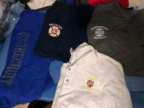 4 Different FIRE Dept SOUTH CAROLINA FLORIDA Academy Wellfleet  Shirts XLarge
