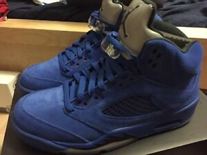 AIR JORDAN 5 ROYAL BLUE SUEDE DS SIZE 8.5