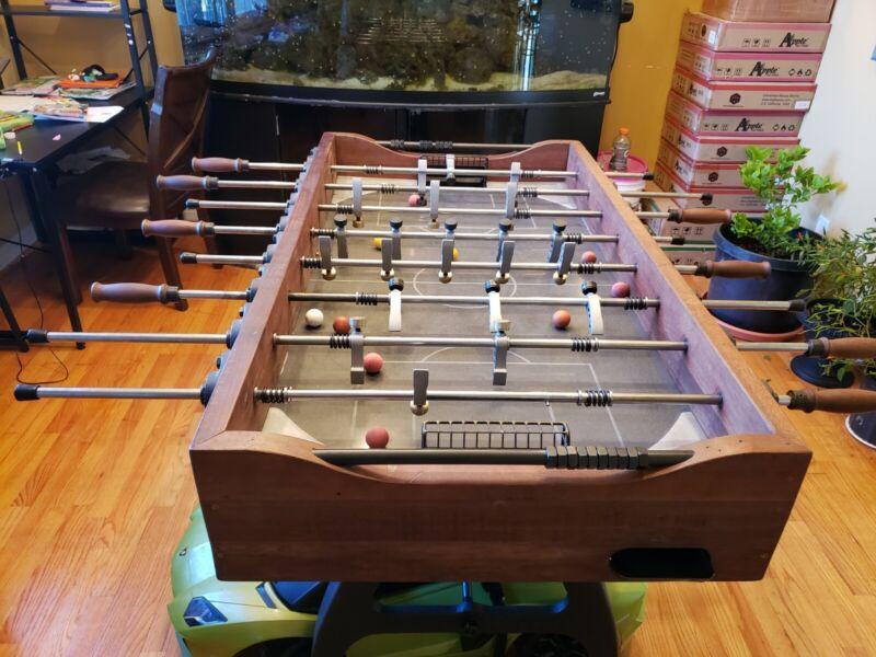 "60"" Foosball Game Table Handmade Rustic Industrial Modern Reclaimed Wood & Iron"