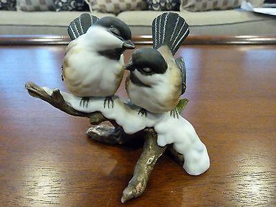 Vintage Home Interiors Masterpiece Porcelain Chickadees Birds Figurine
