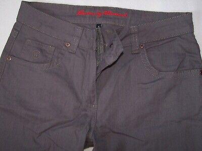 Strass Baumwolle, Elasthan (NEUWERTIG Damen Jeans Hose braun Gr 36 Baumwolle Elasthan Stretch Strass Nieten )