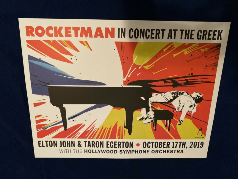 ROCKETMAN In Concert live at the Greek Poster Taron Egerton!! & Elton John 2019