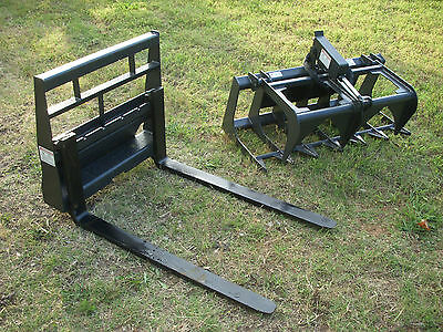 Toro Dingo Skid Steer Attachment 42 Root Grapple And Pallet Forks - Ship 199