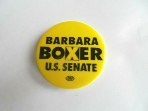 Cool Vintage Barbara Boxer US Senate Senator Candidate Political Pinback