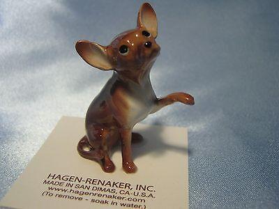 Hagen Renaker Dog Large Chihuahua Brown Figurine Miniature 1019 Porcelain