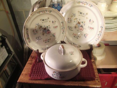 international tableworks heartland  casserole w/lid - dinner plate-chop plate