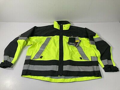 BLAUER GORE-TEX SUPERSHELL JACKET NAVY HI-VIS YELLOW X-LARGE POLICE PRINT BACK