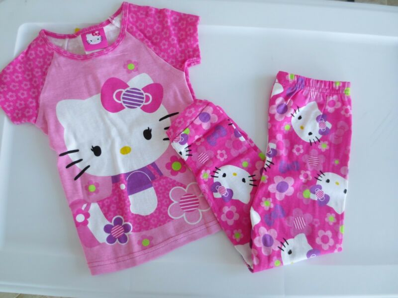 NEW Girl Toddler *12*18*24* month *3T**4T* HELLO KITTY 2-Piece Pajama Set Cotton